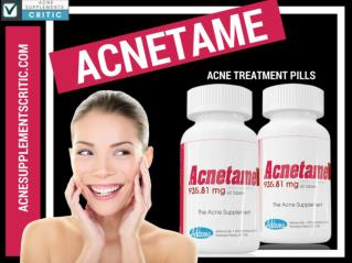 Acnetame Review | Ingredients & Side Effects