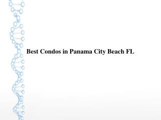 Best Condos in Panama City Beach FL