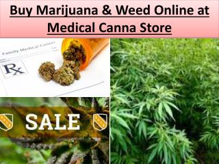 Buy Marijuana | Weed Online at Medical Canna Store