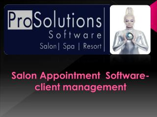 Salon Appointment Software-client management