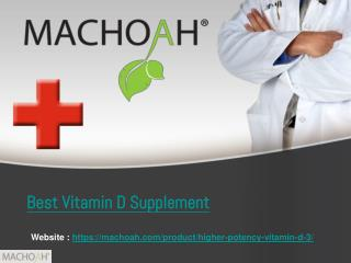 Best Nutrition - Best Vitamin D Supplement | Machoah