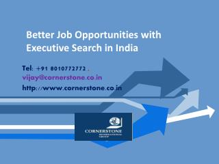 Better Job Opportunities With Executive Search in India