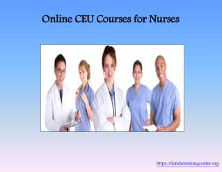 Online CEU Courses for Nurses