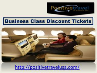 Different Business Class Discount Tickets