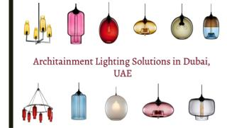 Architainment & Studio Lighting Solutions in Dubai, UAE