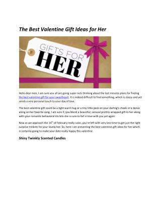 The Best Valentine Gift Ideas for Her