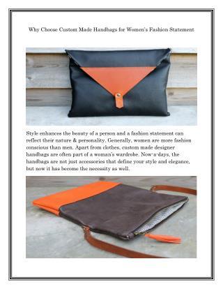 Custom Made Leather Bags