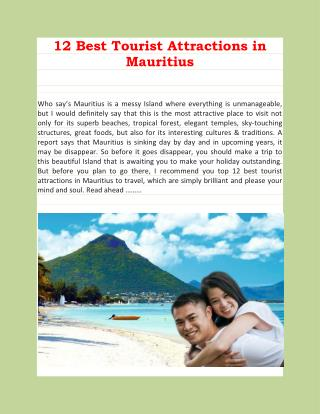 12 Best Tourist Attractions in Mauritius