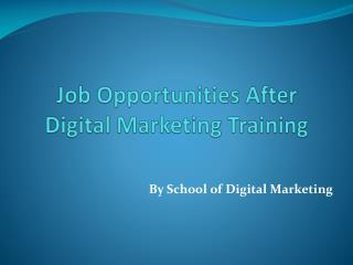 Job Opportunities for Digital Marketing Training in Pune