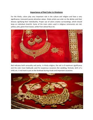 Importance of Red Color in Hinduism