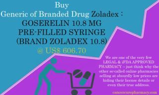 Buy Zoladex - Goserelin 10.8 Mg Pre-Filled Syringe (Brand Zoladex 10.8)