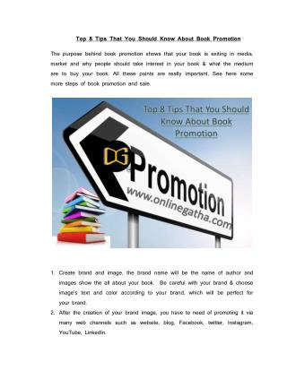 Best ideas For Book Promotion