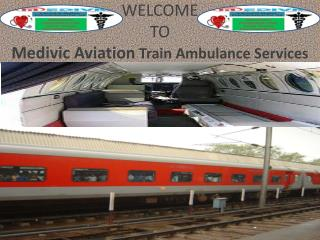 24*7 hours ICU Facilities Train Ambulance Services in Allahabad by Medivic Aviation