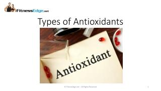 Different Types of Antioxidants