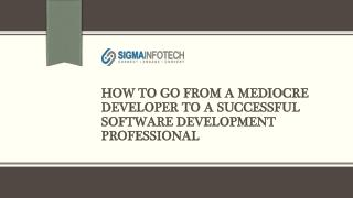 Offshore Software Development Services - Sigma Infotech