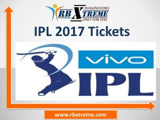 IPL 2017 Tickets & IPL Tickets Booking