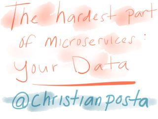 The Hardest Part of Microservices: Your Data - Christian Posta, Red Hat