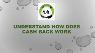Understand How Does Cash Back Work
