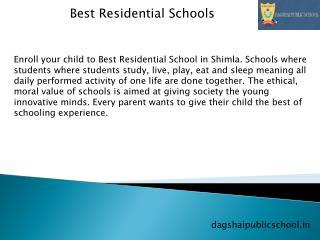Best Residential Schools