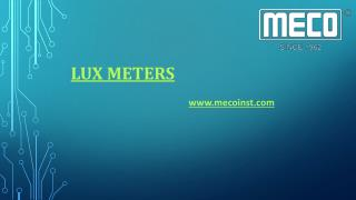 Buy Lux Meters Online at Best Price in India.