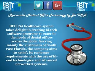 Excellent Dental Office Technology Service in Florida | Bit Usa Inc