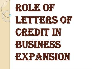 Importance of Letters of Credit in Business Expansion