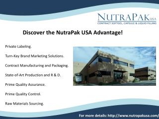 dietary supplement manufacturing