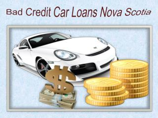 Bad Credit Car Loans Nova Scotia
