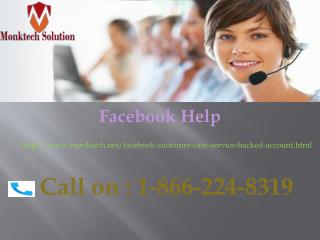 Know How to recover Facebook Helpline Number just Ring on 1-866- 224-8319