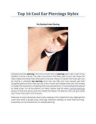 cool ear piercings | instylebeads