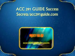 ACC 291 GUIDE Success Secrets/acc291guide.com