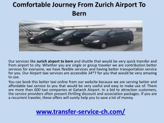Comfortable journey from zurich airport to bern