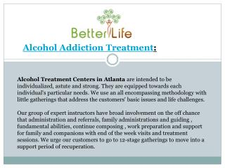 Alcohol Addiction Treatments in Atlanta, GA