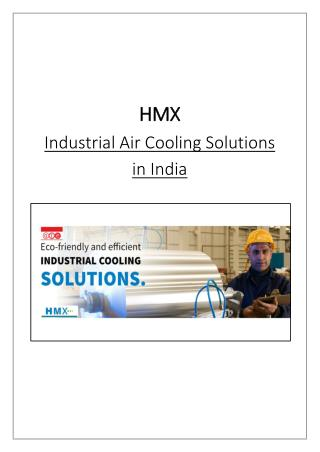 Industrial Air Cooling Solutions  in India