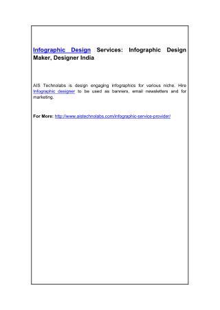 Infographic Design Services: Infographic Design Maker, Designer India