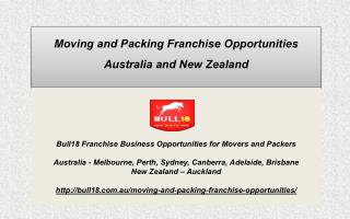 Franchise Moving Business Australia New Zealand