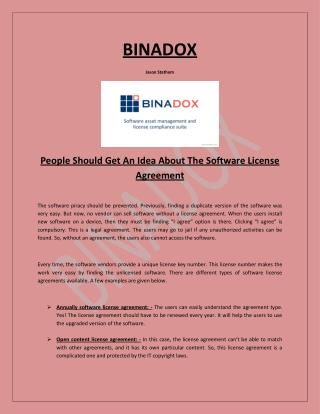 People Should Get An Idea About The Software License Agreement
