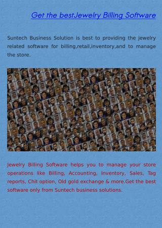 Jewelry billing software