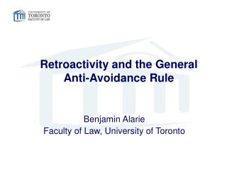 Retroactivity and the General  Anti-Avoidance Rule