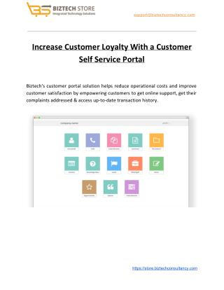 Increase Customer Loyalty With a Customer Self Service Portal