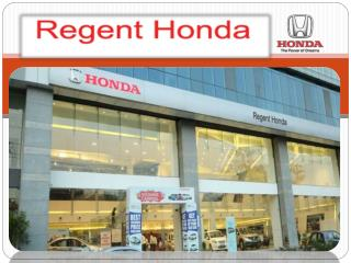 Honda car on road price in Mumbai - Regent Honda