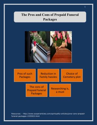 The Pros and Cons of Prepaid Funeral Packages