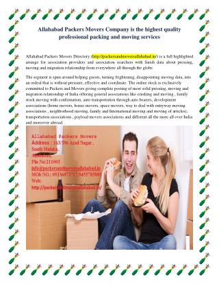 Allahabad Packers Movers