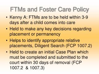 FTMs and Foster Care Policy