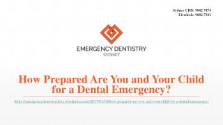 How Prepared Are You and Your Child for a Dental Emergency?