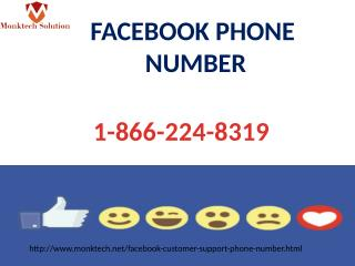 Facebook phone number 1-866-224-8319 Round the clock assistance