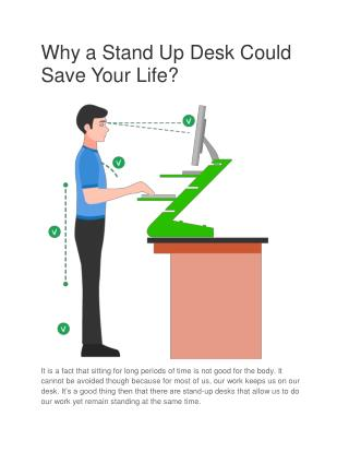 Why a Stand Up Desk Could Save Your Life