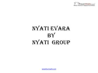 Nyati Evara offers 2bhk & 3bhk Under Construction Flats in Undri Pune by Nyati Group