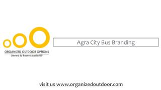 Agra City Bus Advertising in India