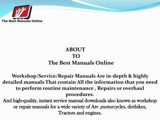 sportster service manual